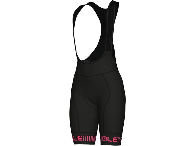 Alé Cycling Graphics PRR Strada Culotte con tirantes Mujer, negro/rosa